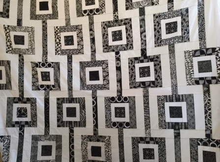 Gwendolyn Brown black and white quilt